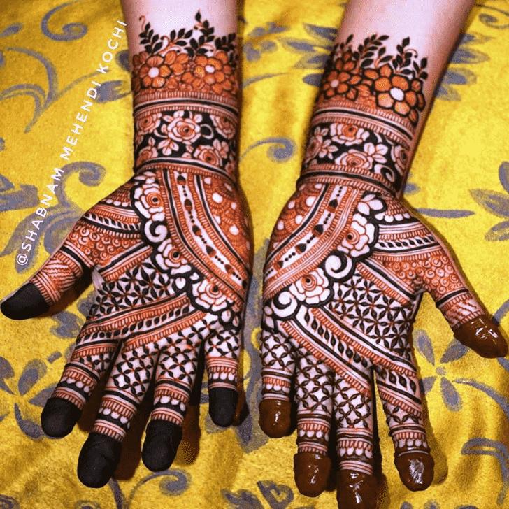 Graceful Indian Henna design