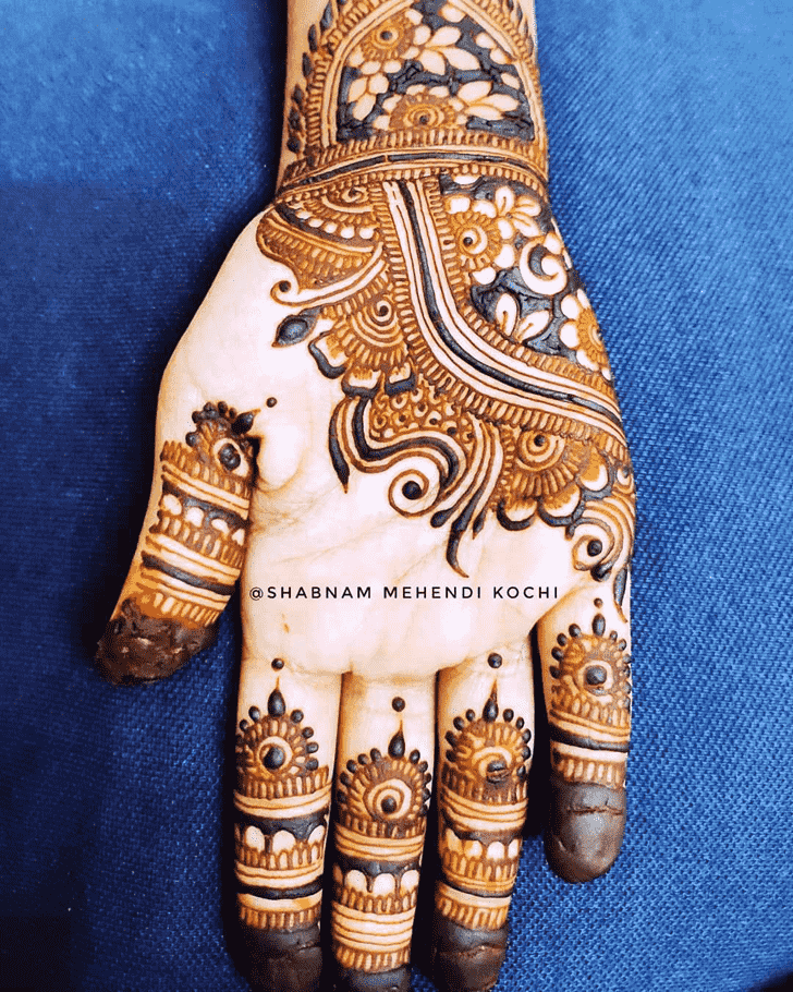 Refined Indian Henna design
