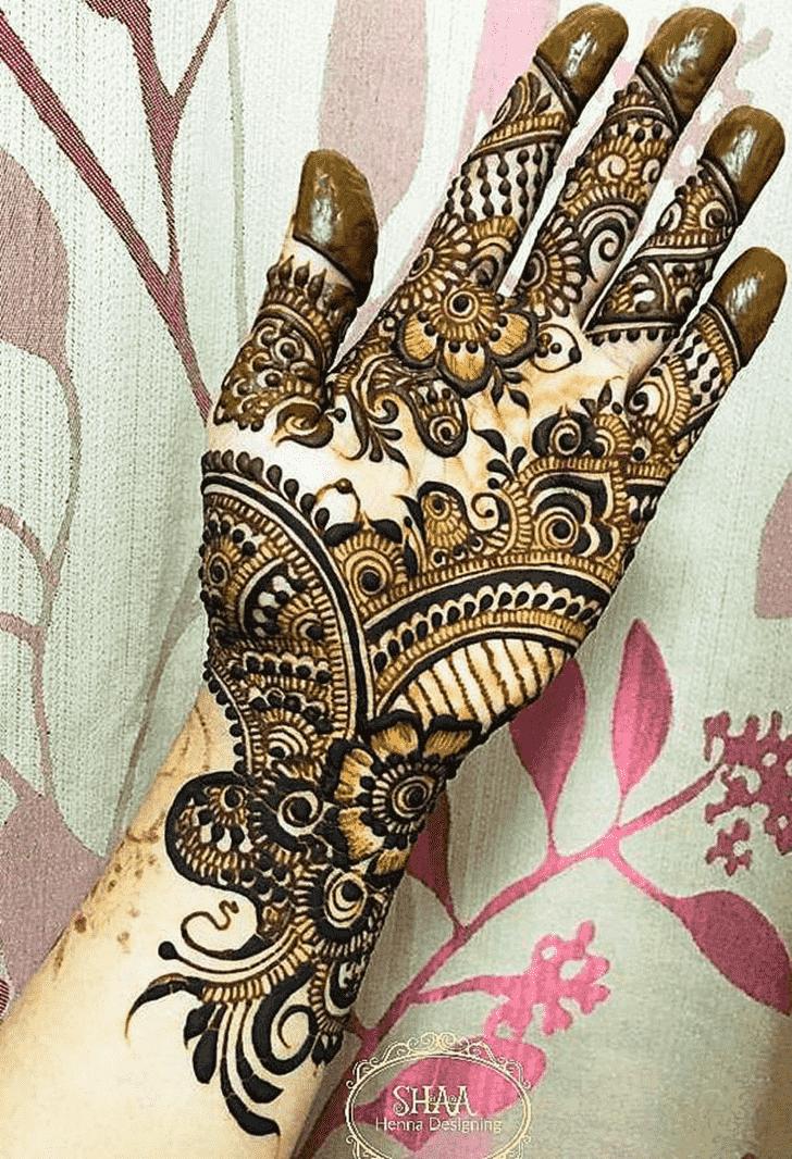 Appealing Indo Arabic Henna Design