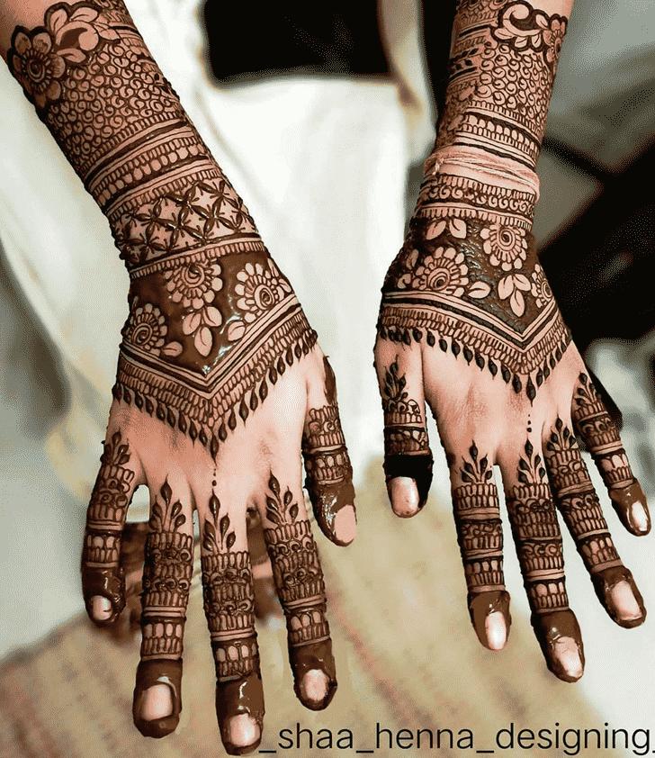 Bewitching Indo Arabic Henna Design