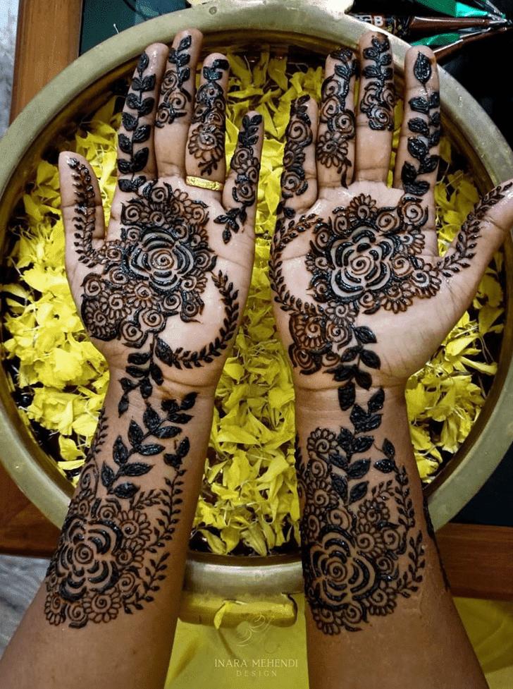 Adorable Israel Henna Design