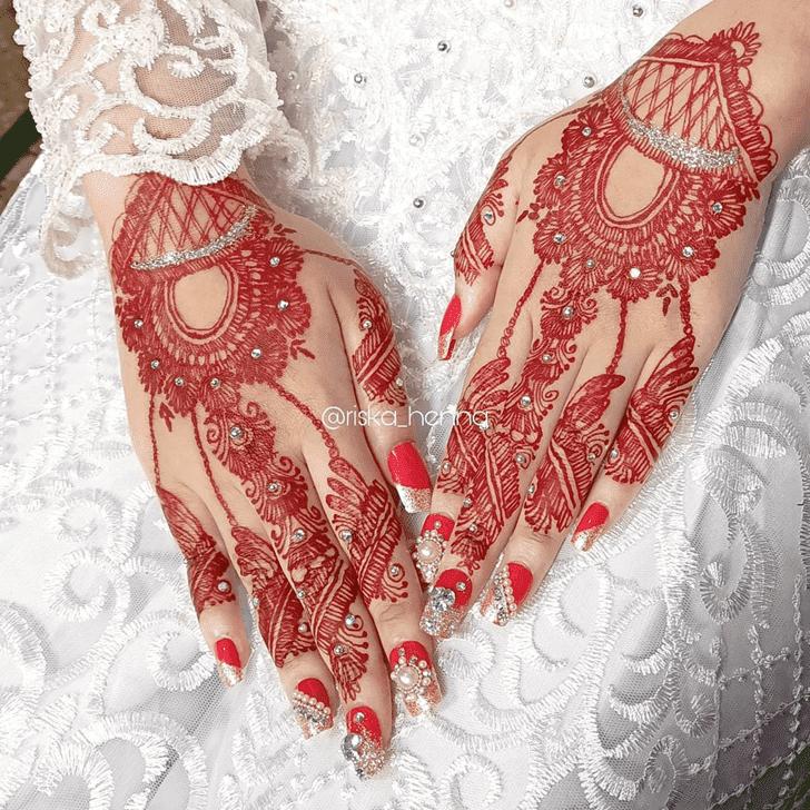 Charming Israel Henna Design