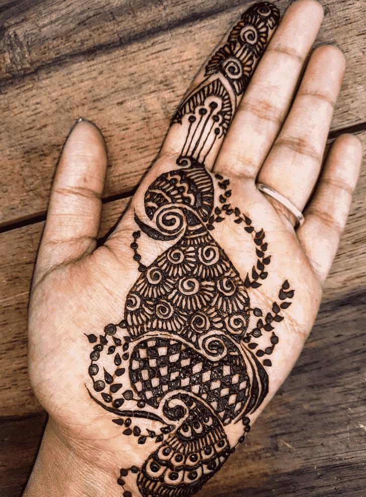 Alluring Jaipur Henna Design