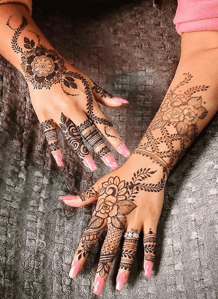 Classy Jaipur Henna Design