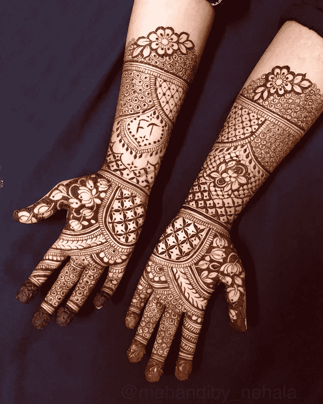 Adorable Janakpur Henna Design