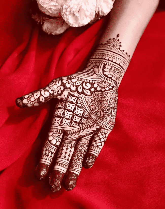 Appealing Janakpur Henna Design