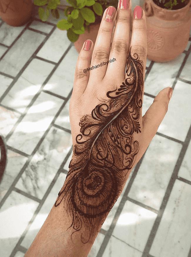 Charming Janakpur Henna Design