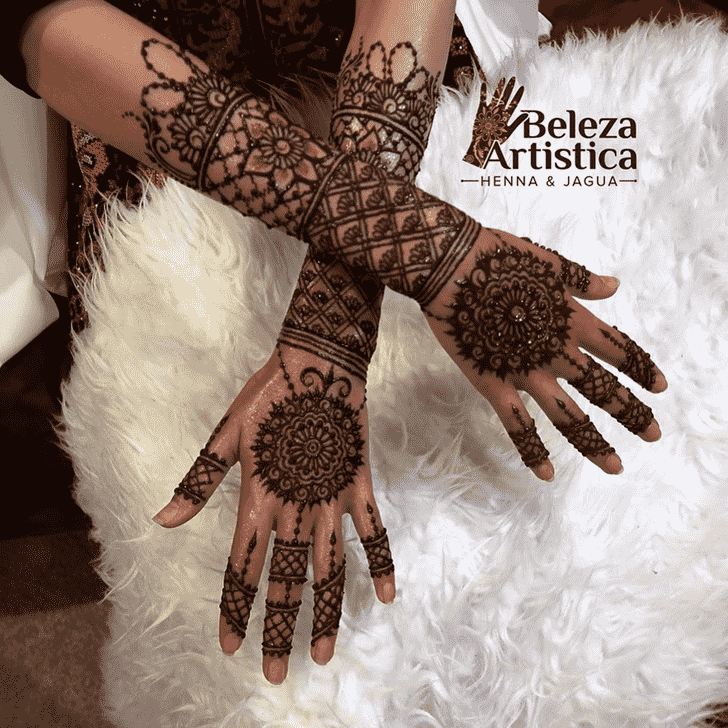 Appealing Jewelry Henna Design