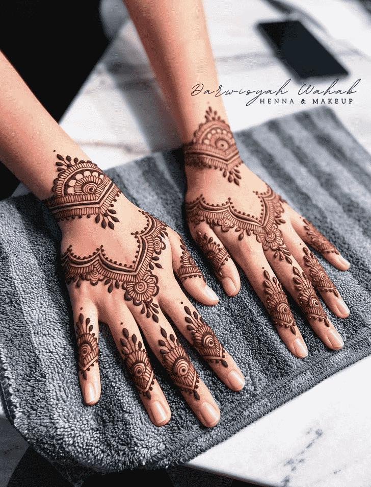 Charming Jodhpur Henna Design