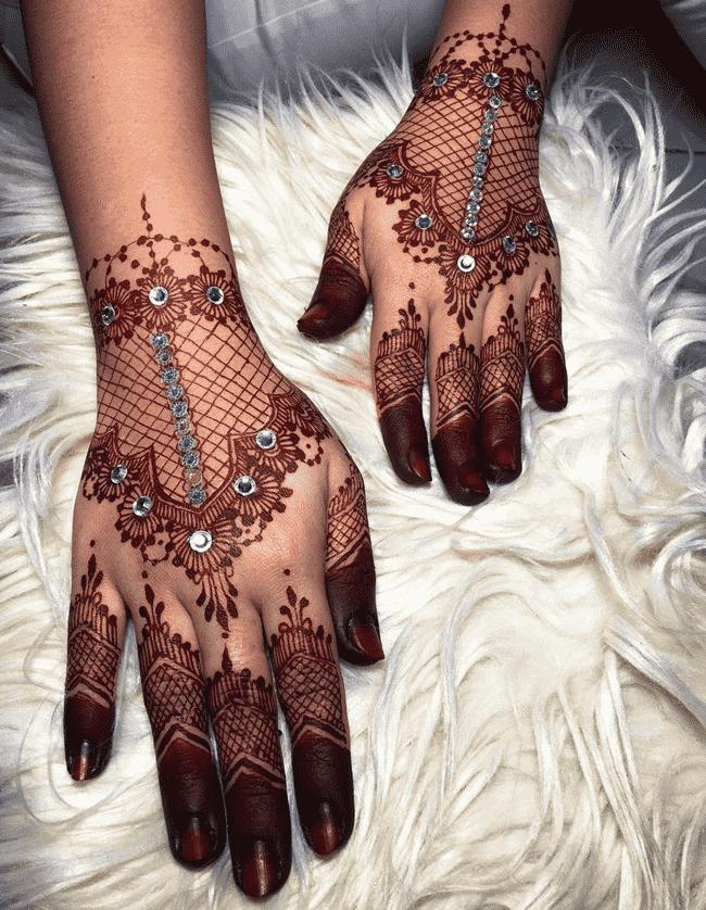 Alluring Kandahar Henna Design
