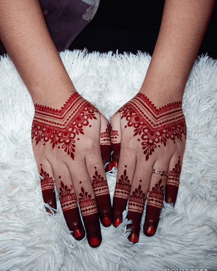 Angelic Karva Chauth Henna Design on Both Hand
