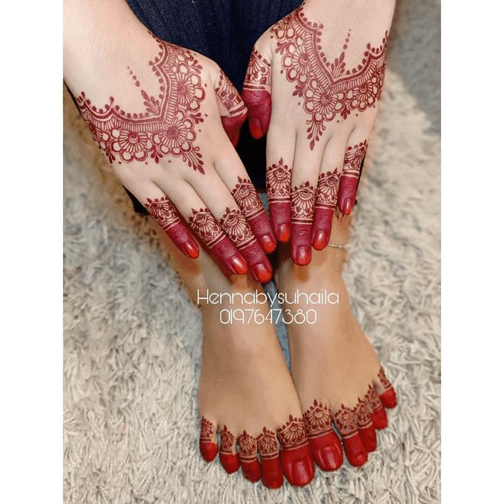 Bewitching Karva Chauth Henna Design