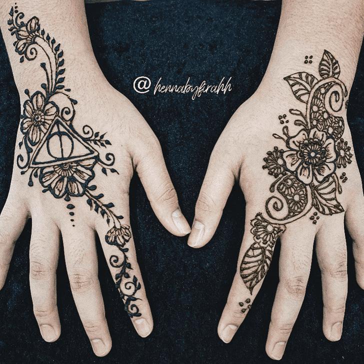Charming Karva Chauth Henna Design