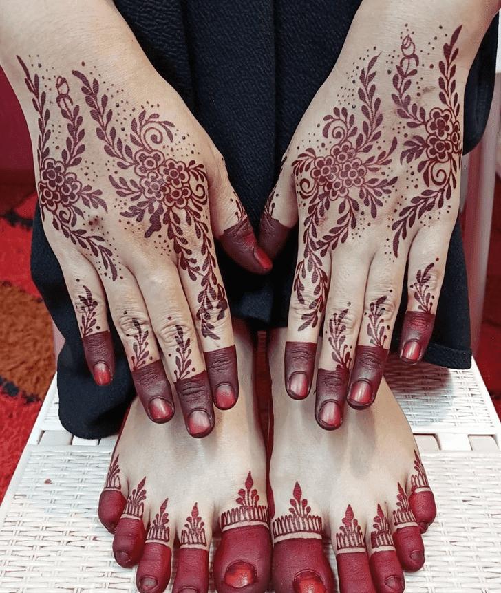 Cute Karva Chauth Henna Design