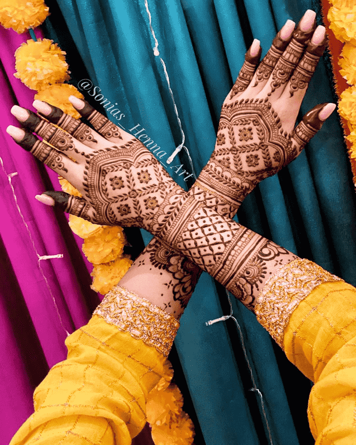 Adorable Kashmiri Henna Design