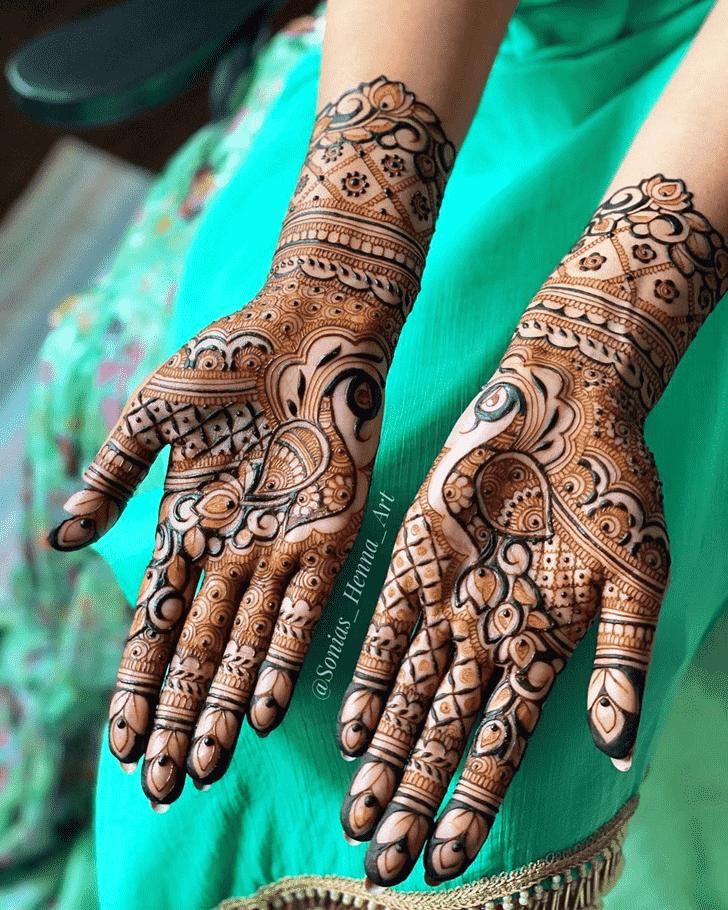 Appealing Kashmiri Henna Design