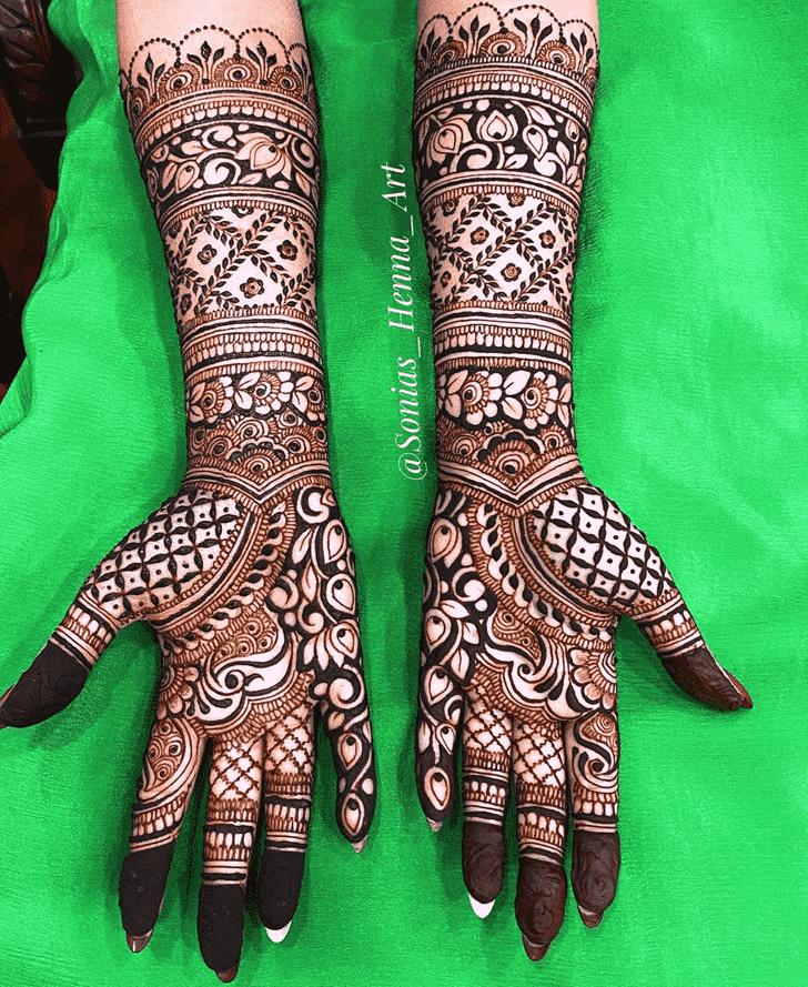 Beauteous Kashmiri Henna Design