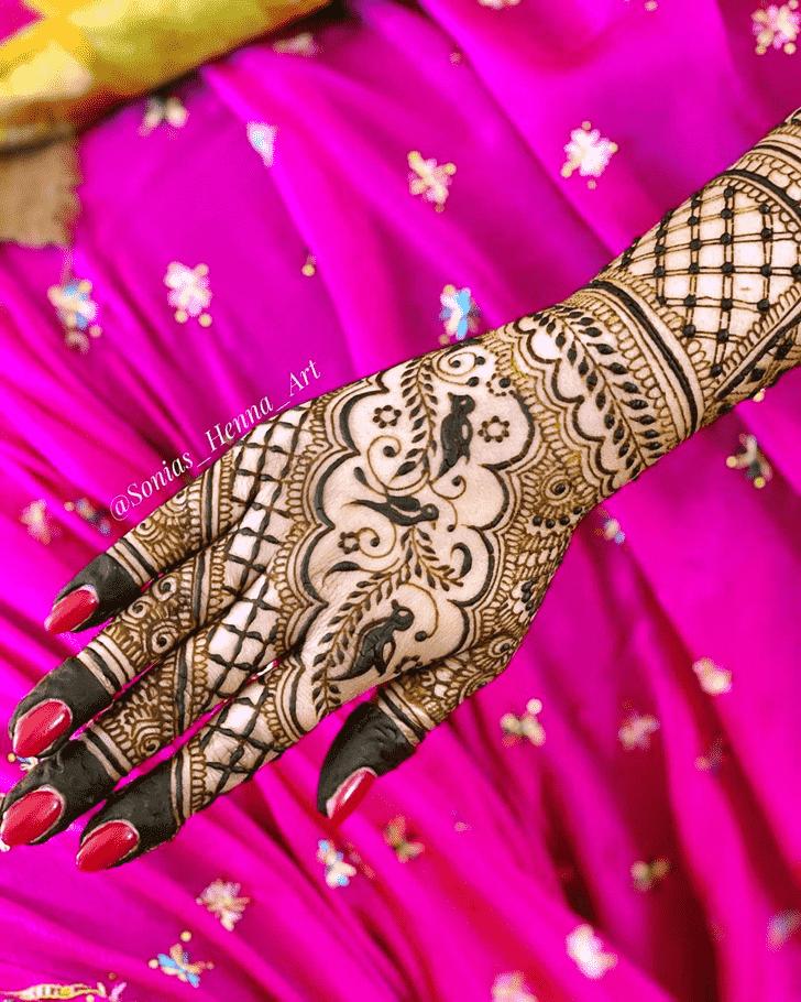 Classy Kashmiri Henna Design