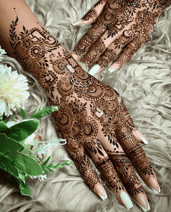 Angelic Kerala Henna Design