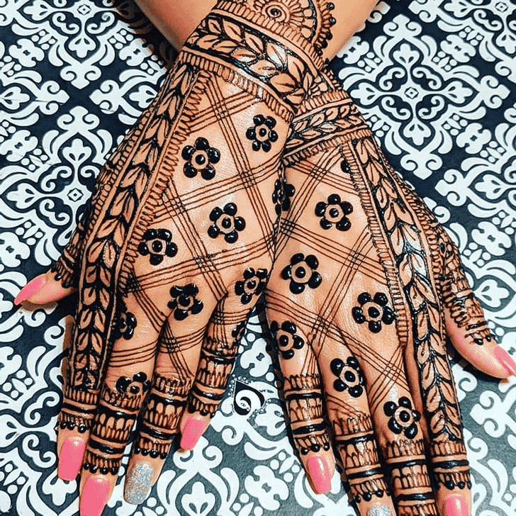 Charming Kerala Henna Design