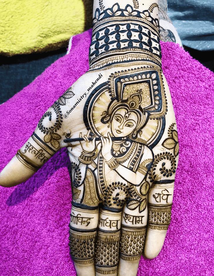 Angelic Krishna Henna Design
