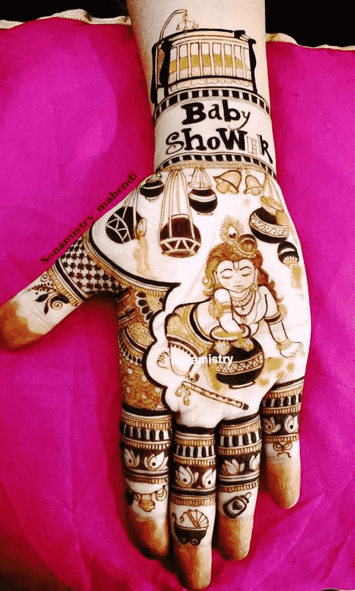Appealing Krishna Henna Design