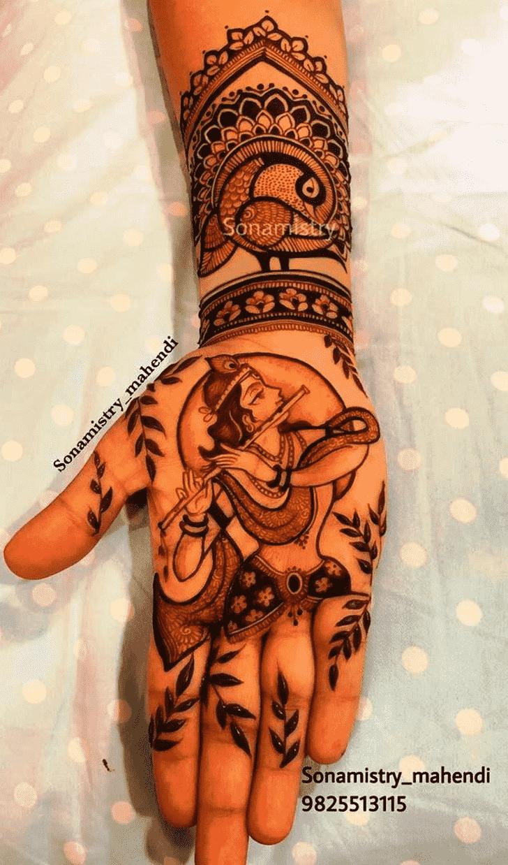 Beauteous Krishna Henna Design