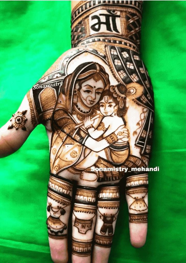 Captivating Krishna Henna Design