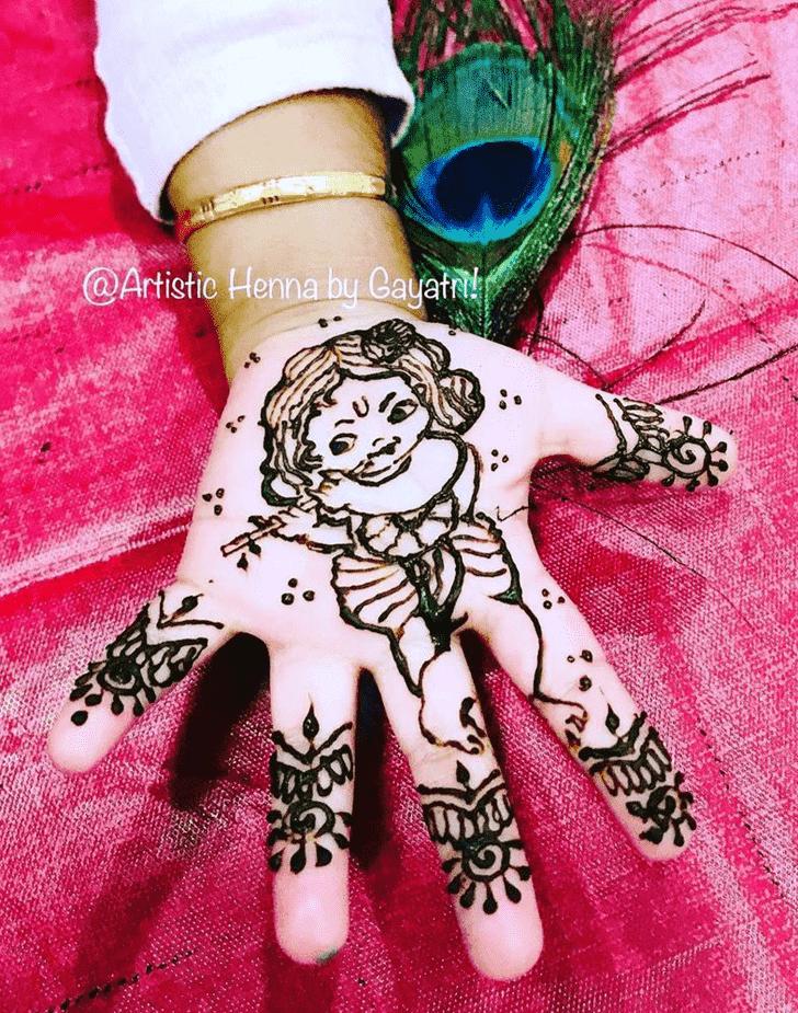 Arm Krishna Henna Design