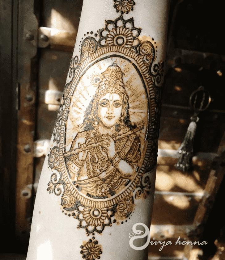 Delightful Krishna Henna Design