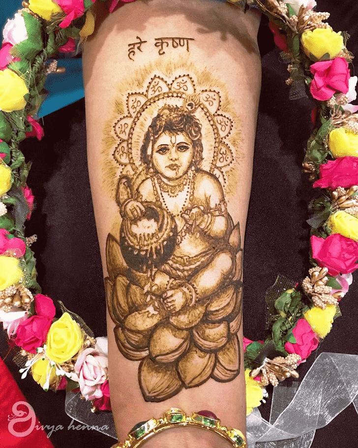 Enticing Krishna Henna Design