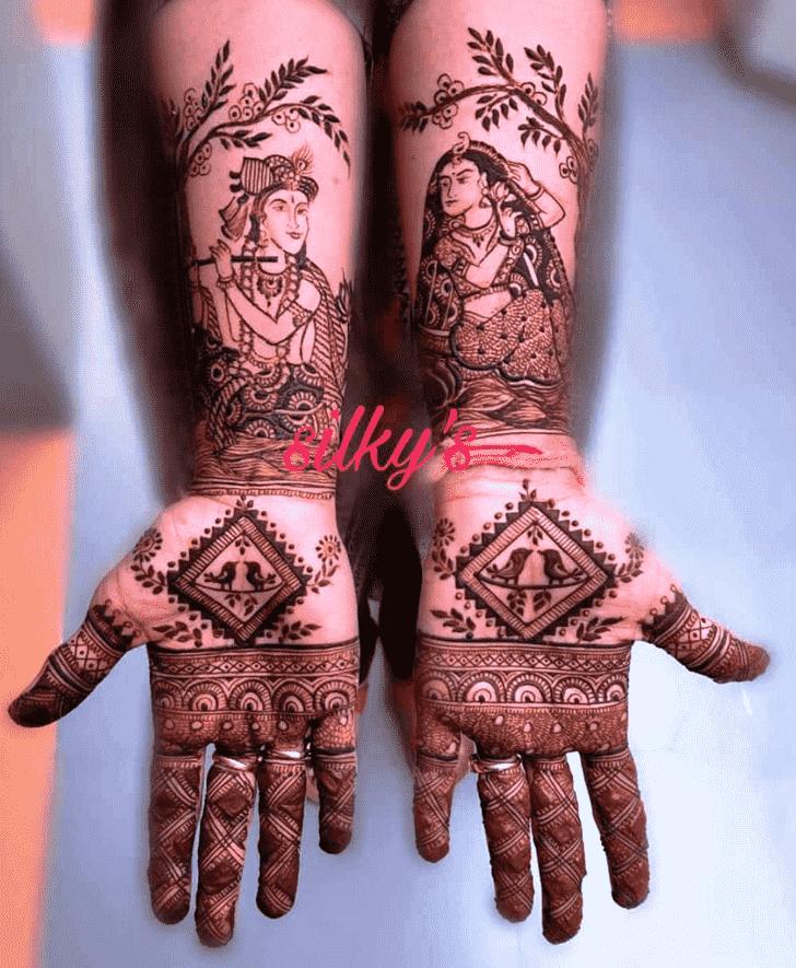 Exquisite Krishna Henna Design