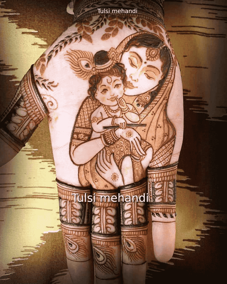 Fine Krishna Henna Design