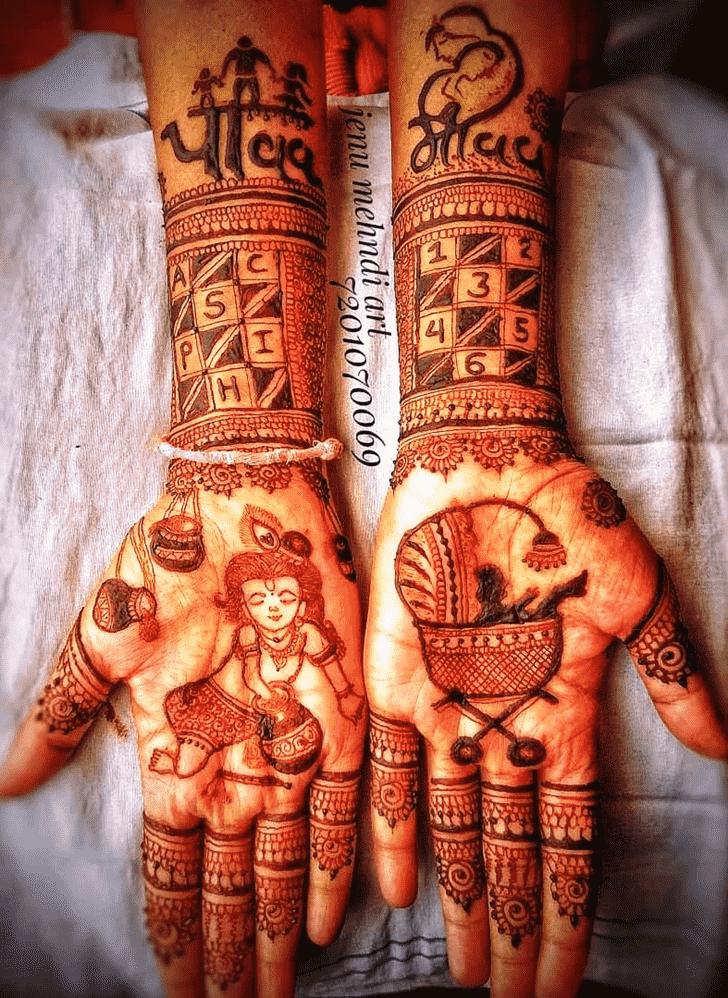 Grand Krishna Henna Design