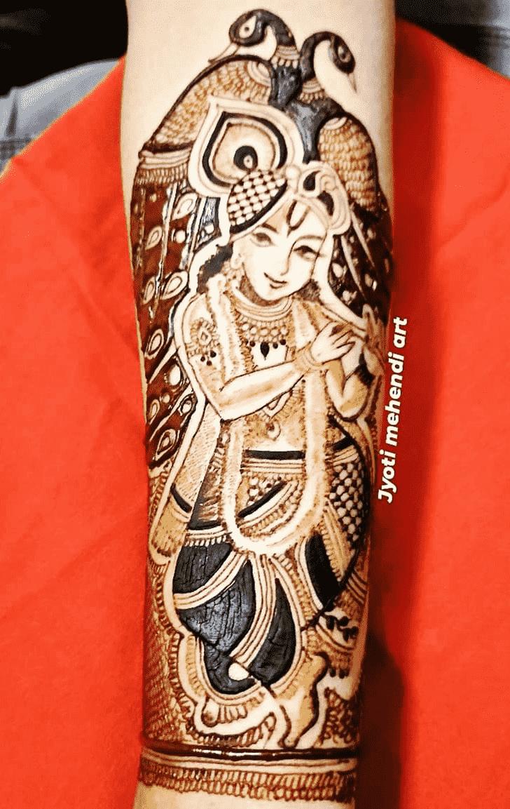Awesome Krishna Henna Design
