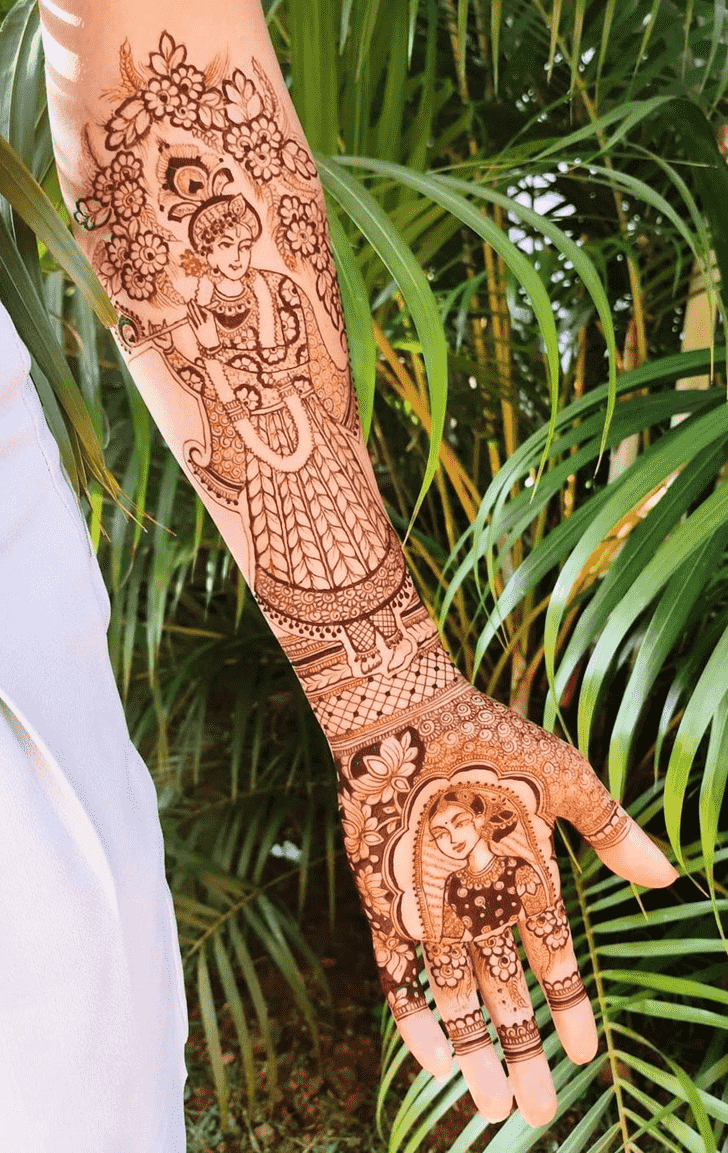 Ideal Krishna Henna Design