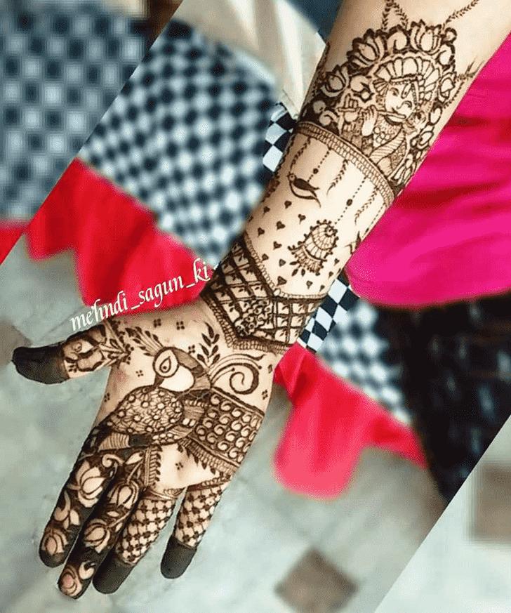 Magnetic Krishna Henna Design