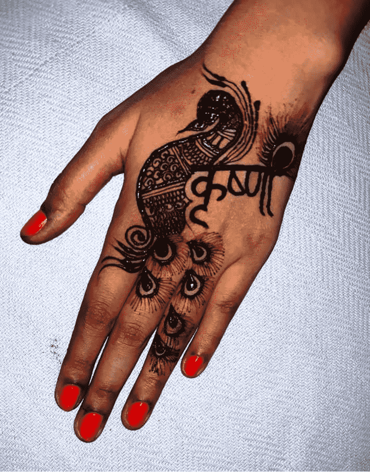 Magnificent Krishna Henna Design