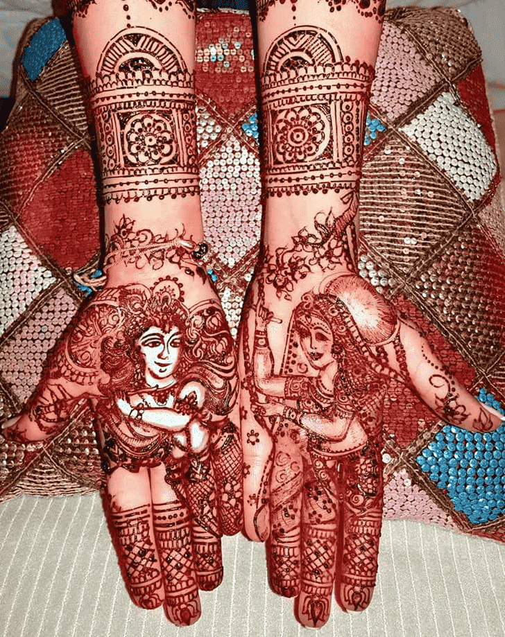 Marvelous Krishna Henna Design