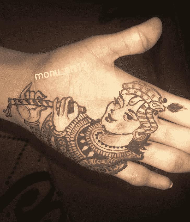 Mesmeric Krishna Henna Design