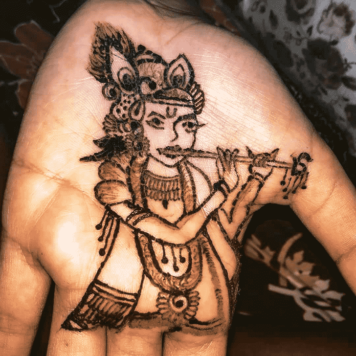 Pleasing Krishna Henna Design