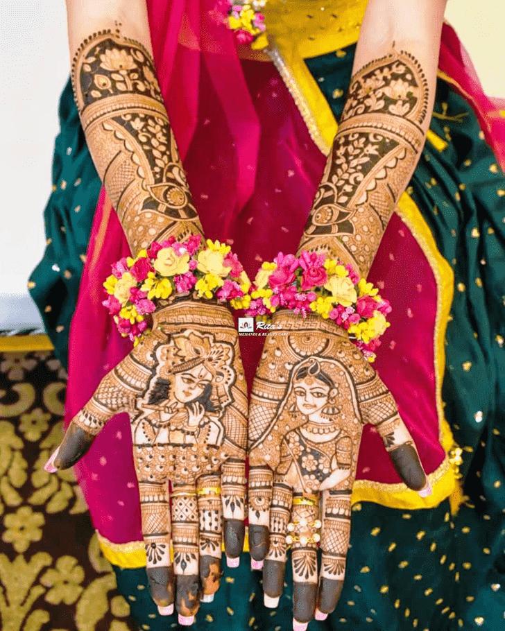 Ravishing Krishna Henna Design
