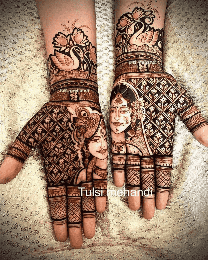 Splendid Krishna Henna Design