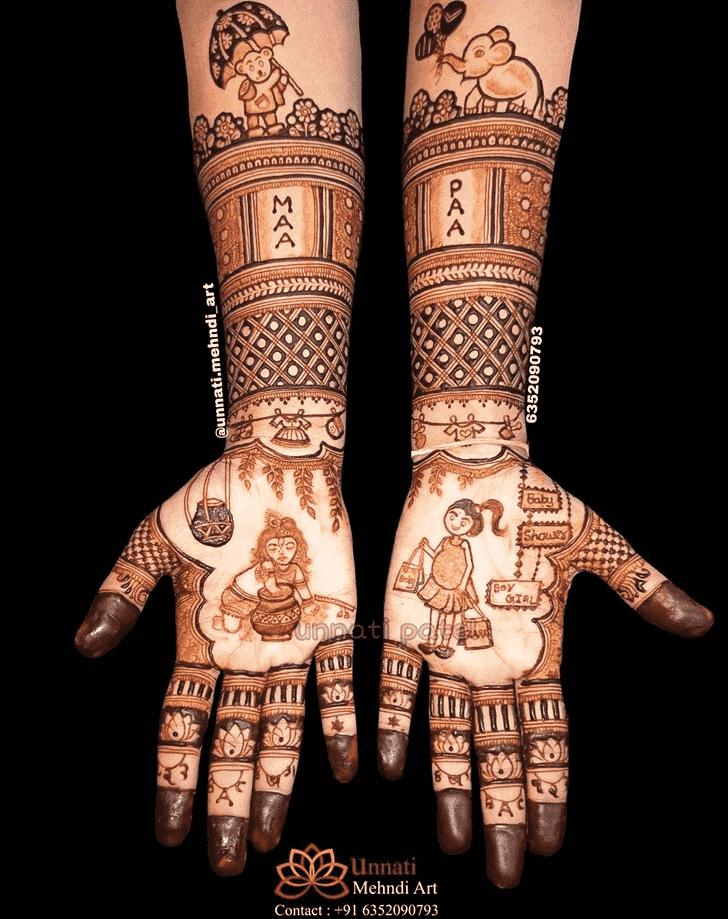 Superb Krishna Henna Design