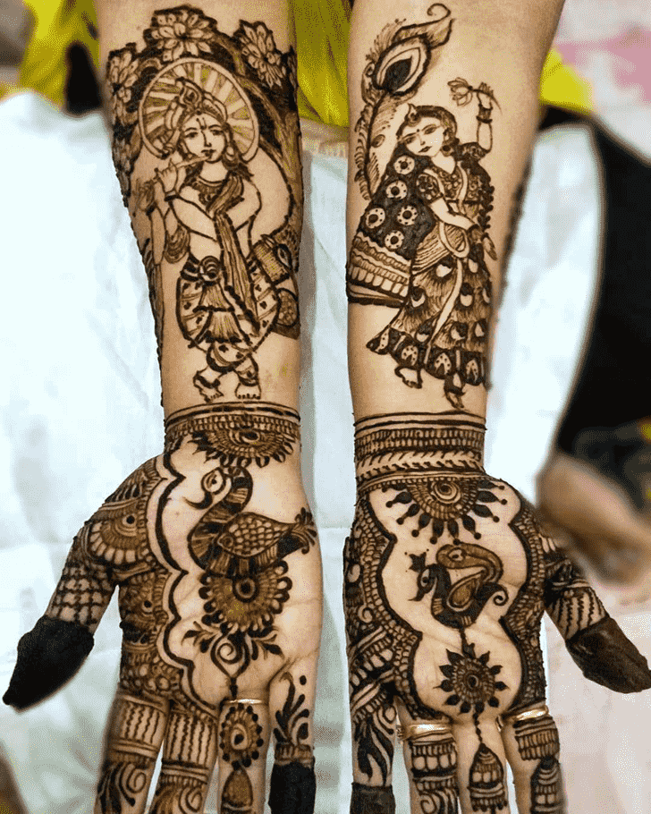 Wonderful Krishna Mehndi Design