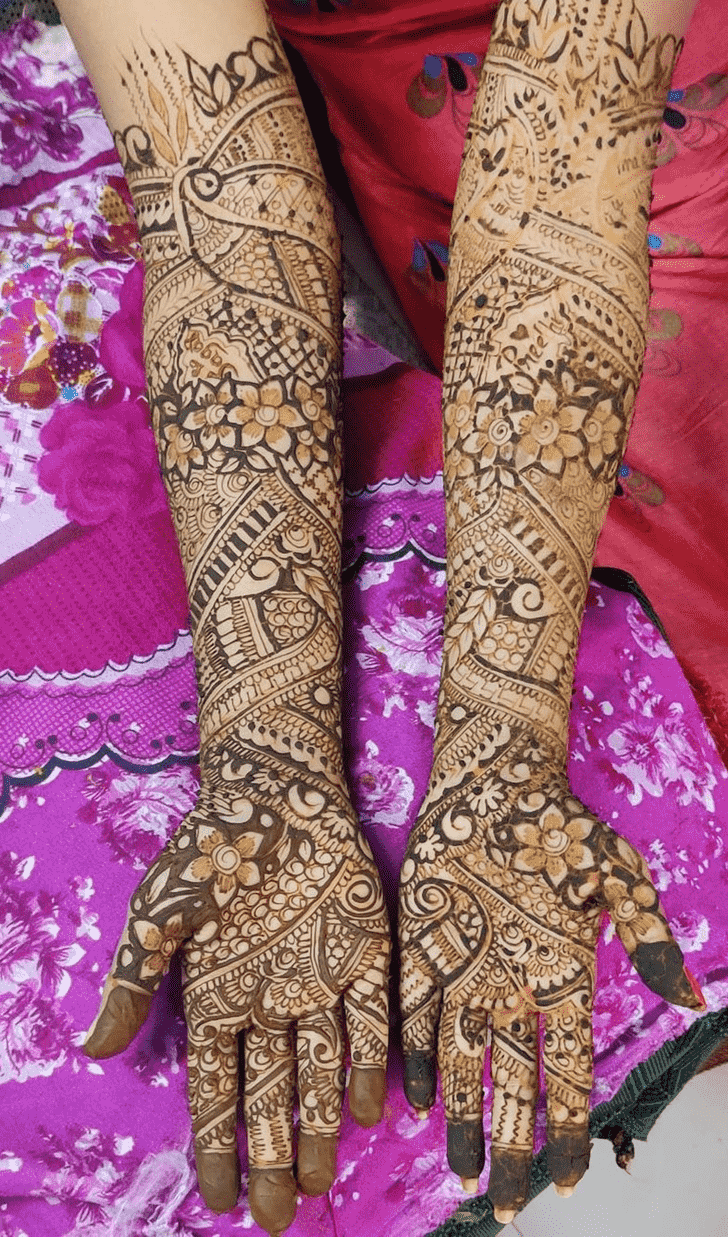 Adorable Kumbh Sankranti Henna Design