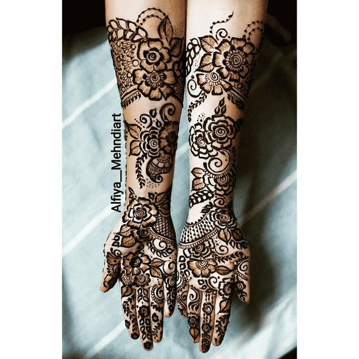 Beauteous Kumbh Sankranti Henna Design