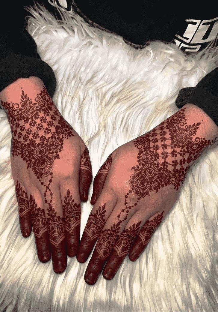 Arm Larkana Henna Design