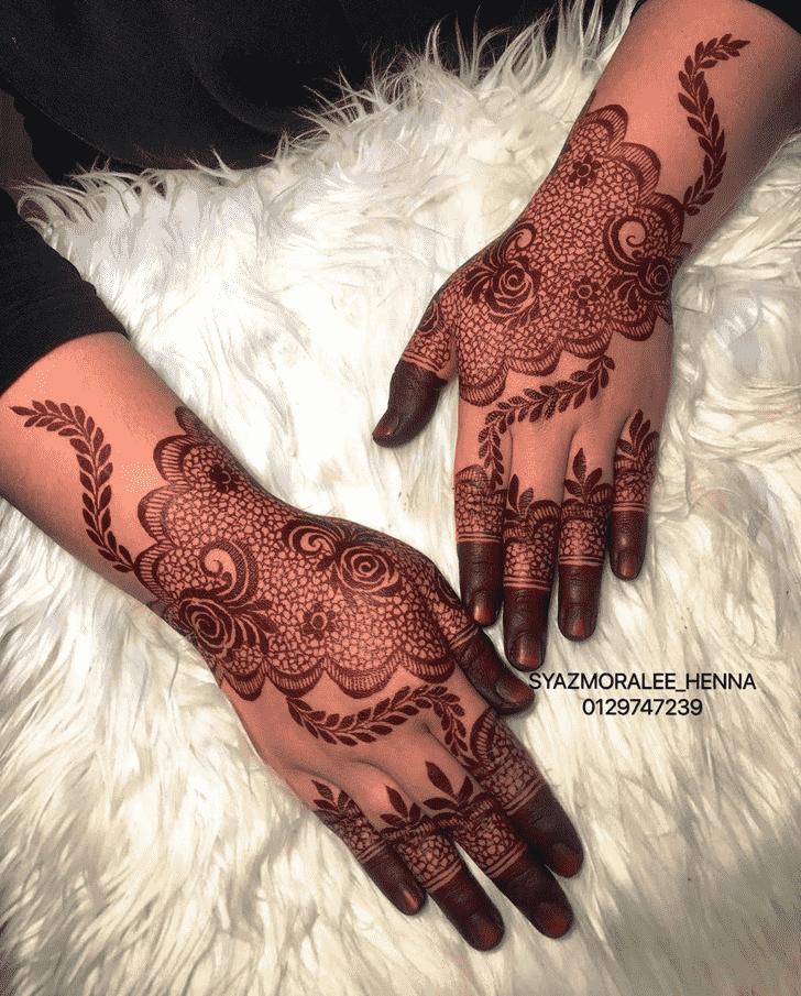 Nice Larkana Henna Design