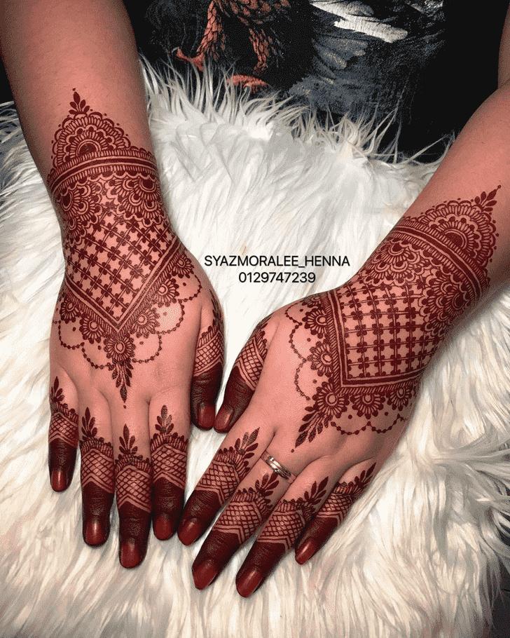 Radiant Larkana Henna Design